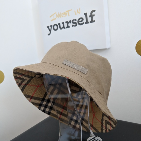 daa6ba45365 Burberry Accessories - Burberry Traditional Check Bucket Hat